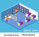 isometric flat 3d isolated... | Shutterstock .eps vector #790396042