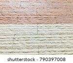 modern stone brick wall... | Shutterstock . vector #790397008