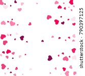 heart confetti beautifully... | Shutterstock .eps vector #790397125