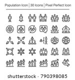 population line icon editable... | Shutterstock .eps vector #790398085
