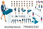 create your isometric character.... | Shutterstock .eps vector #790401532