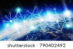 connections system and global... | Shutterstock . vector #790402492