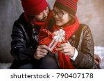 the asian lovely couple show...   Shutterstock . vector #790407178