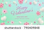 valentines day sale background...   Shutterstock .eps vector #790409848