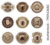 set of vintage beer labels.... | Shutterstock .eps vector #790413682
