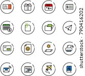 line vector icon set   ticket...   Shutterstock .eps vector #790416202