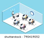 isometric flat 3d isolated... | Shutterstock . vector #790419052
