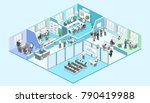 isometric flat 3d abstract... | Shutterstock . vector #790419988