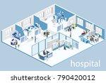 isometric flat interior of... | Shutterstock . vector #790420012