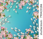 spring vector background with... | Shutterstock .eps vector #790423186