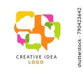creative idea logo template... | Shutterstock .eps vector #790423642