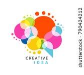 creative idea logo template... | Shutterstock .eps vector #790424212