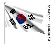 south korea flag background...   Shutterstock .eps vector #790424608