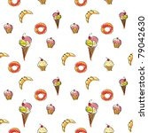 sweet seamless texture. vector | Shutterstock .eps vector #79042630
