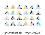 mega set of triangle vector... | Shutterstock .eps vector #790429636