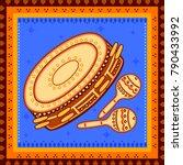 vector design of tambourine and ... | Shutterstock .eps vector #790433992
