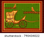 vector design of chariot baggi... | Shutterstock .eps vector #790434022