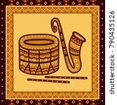 vector design of drum and... | Shutterstock .eps vector #790435126
