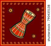 vector design of damru music... | Shutterstock .eps vector #790435138