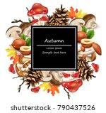 autumn card background....   Shutterstock .eps vector #790437526