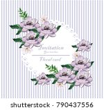 vintage card beautiful purple... | Shutterstock .eps vector #790437556
