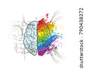 technical and art hemispheres... | Shutterstock . vector #790438372