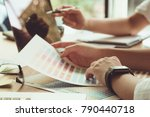 concept of designer teamwork.... | Shutterstock . vector #790440718