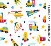 seamless pattern with colorful... | Shutterstock .eps vector #790440958