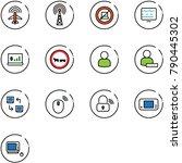 line vector icon set   plane... | Shutterstock .eps vector #790445302