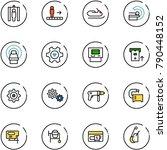 line vector icon set   metal... | Shutterstock .eps vector #790448152