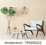 modern interior design of... | Shutterstock . vector #790450222