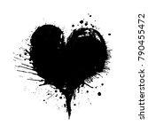 watercolor painted vector heart ...   Shutterstock .eps vector #790455472