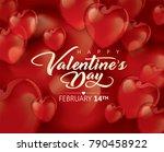 valentines day vector...   Shutterstock .eps vector #790458922