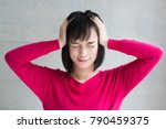 young woman in trouble | Shutterstock . vector #790459375