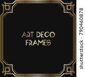 vintage retro style invitation  ... | Shutterstock .eps vector #790460878