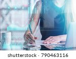 woman working on project at...   Shutterstock . vector #790463116