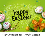 vector card with realistic 3d... | Shutterstock .eps vector #790465885