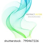 color abstract wave on a light...   Shutterstock .eps vector #790467226