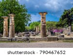 the archaeological site of... | Shutterstock . vector #790467652