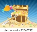 treasure chest | Shutterstock .eps vector #79046797
