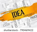 idea word cloud collage ... | Shutterstock . vector #790469422