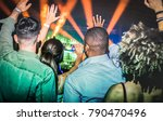 young people dancing at night... | Shutterstock . vector #790470496