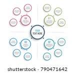 absrtact mind map template ... | Shutterstock .eps vector #790471642