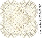 creative arabic pattern. vector ... | Shutterstock .eps vector #790475806
