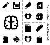 memory icons. set of 13... | Shutterstock .eps vector #790477192