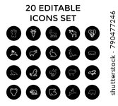 mammal icons. set of 20... | Shutterstock .eps vector #790477246