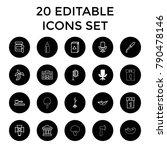 nobody icons. set of 20... | Shutterstock .eps vector #790478146