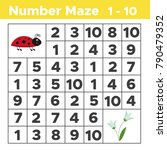 number maze  math puzzle game...   Shutterstock .eps vector #790479352