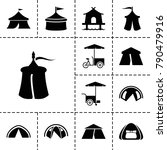 tent icons. set of 13 editable...   Shutterstock .eps vector #790479916