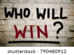 who will win  | Shutterstock . vector #790480912